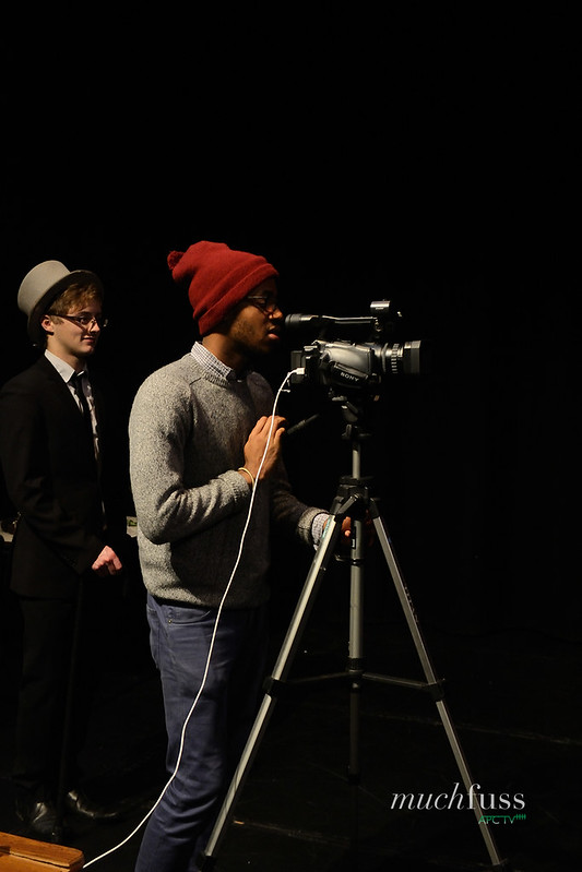 Enyi the director filming the trailer