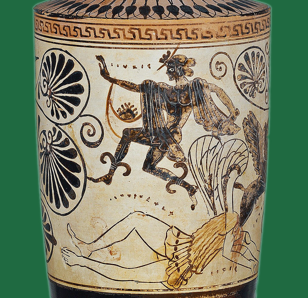 Old Paint Perseus Escaping With The Head Of Medusa In His
