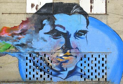 Federico García Lorca: From a mural on a barn in his birthplace, Fuente Vaqueros, Andalucía, Spain