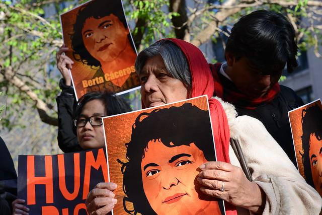 Manifestación Berta Cáceres