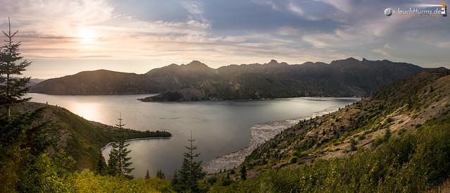 Sunset above Spirit Lake