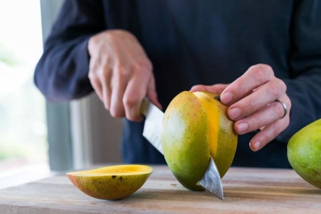 fresh slices of mango