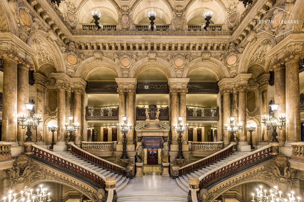 The Grand Staircase Of The Op 233 Ra Garnier Of Paris Flickr