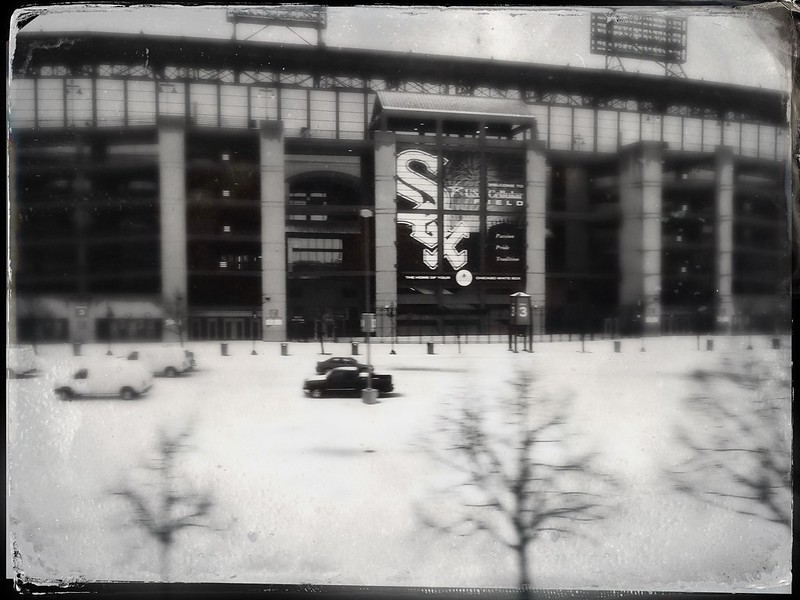 Sox Park from the Capitol Limited