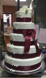 5-tier wedding cake