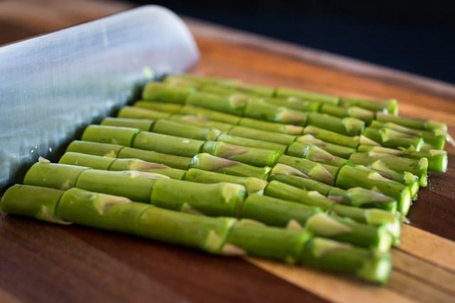 cut asparagus looks like bamboo