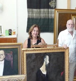 Ileana-Costea-in-vizita-la-maestrul-Vladimir-zamfirescu-vara-2009
