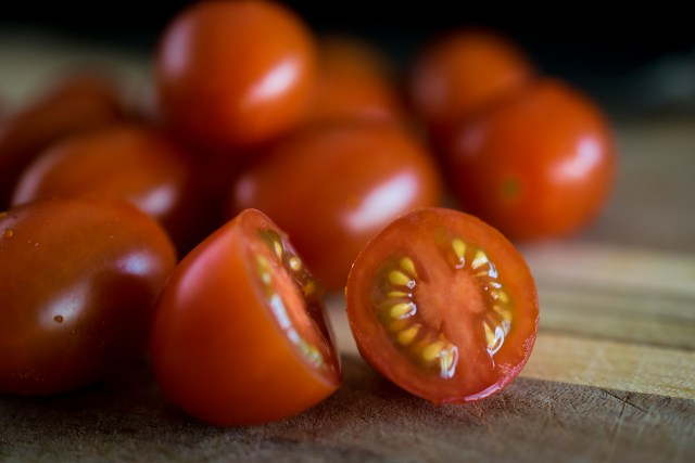 juicy cherry tomatoes
