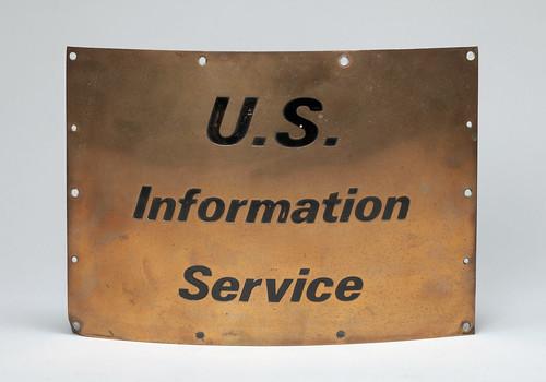 U.S. Information Service sign, former USIS Jakarta library