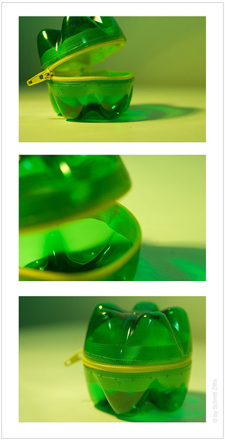 PET BOTTLE PURSE / recycled / recycling // www.zittaschnitt.com