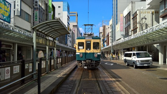 Tram in Fukui City.