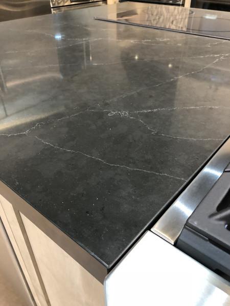 Corian 174 Quartz Portoro Kitchen Countertop This Display
