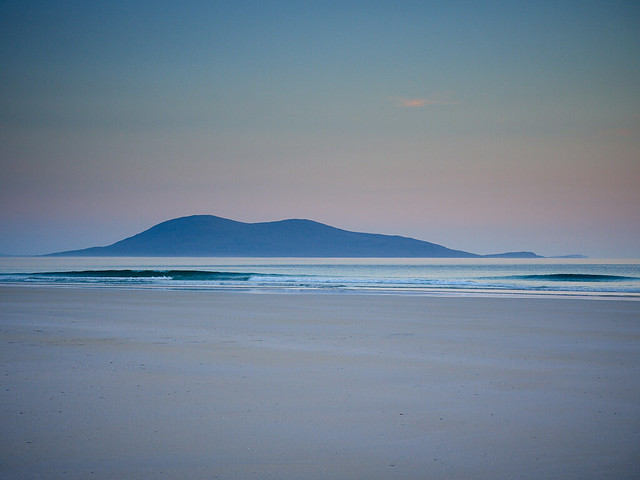 Dusk over Ceobaphal from Luskentyre II, Isle of Harris