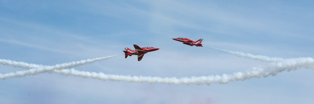 Red Arrows at Cosford 2018