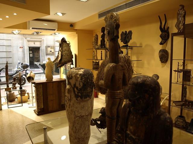 Interior de la exposición de la Galería Ricardo Ostalé en julio de 2017