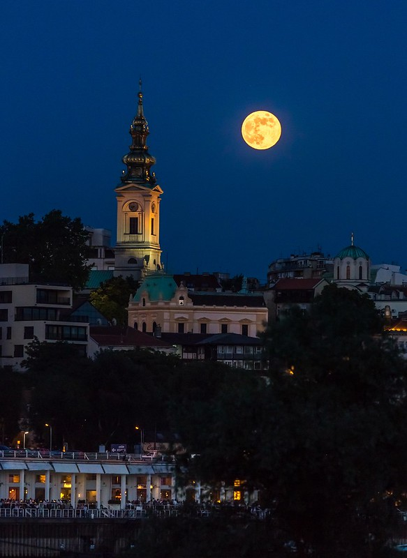 Full Moon Over Belgrade