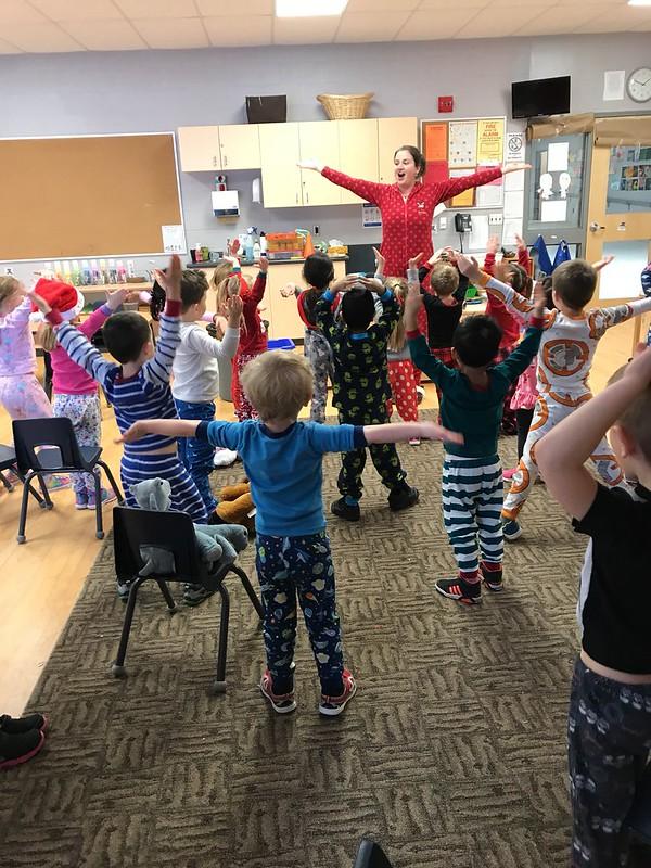 Ms. Cardinal taught us the YMCA!