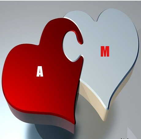 صور حرف A وm مع بعض صور A و M رومانسية حب بصورة واحدة