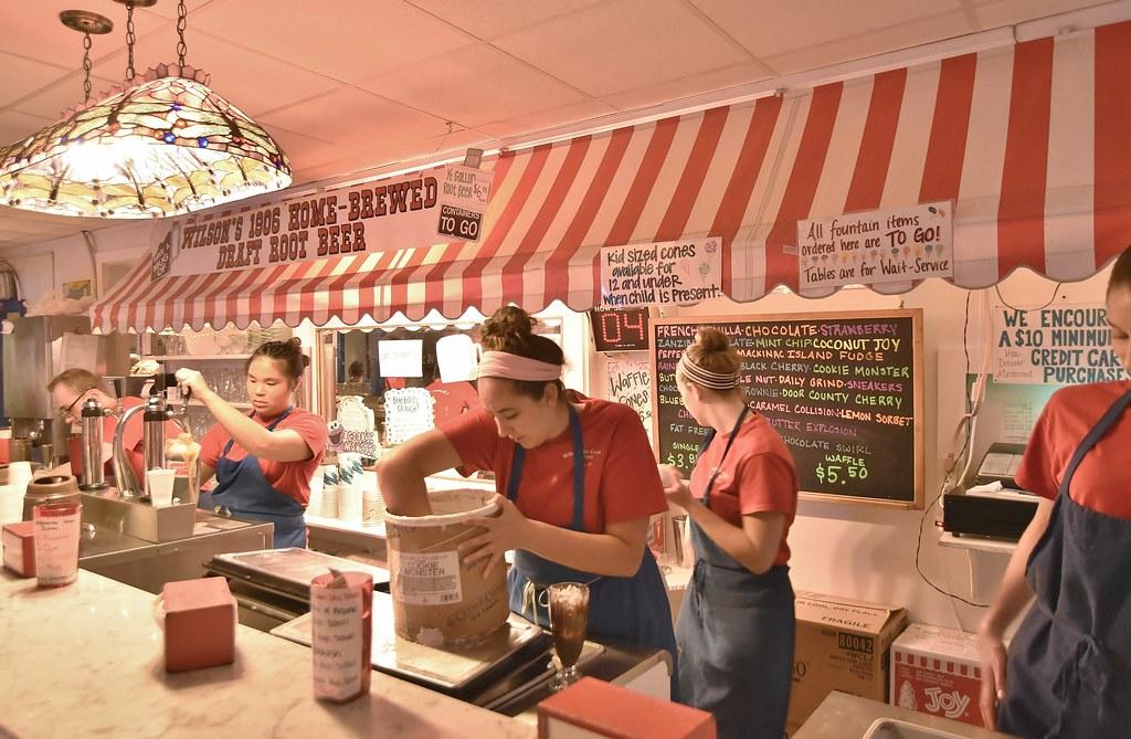 Wilson's - famous ice cream shop
