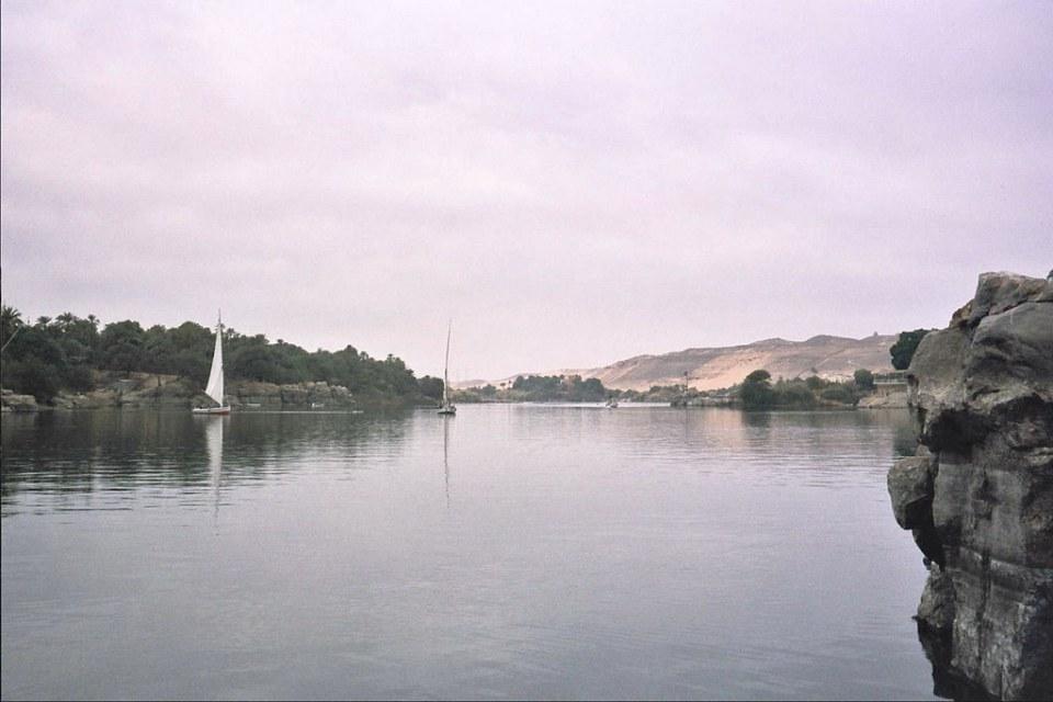 El Nilo Egipto sus barcos