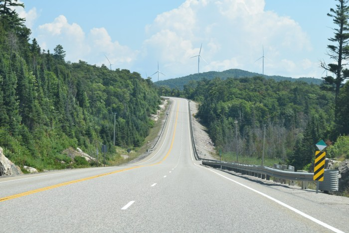 The lovely road goes on and on - Trans-Canada Highway from Sudbury to Wawa