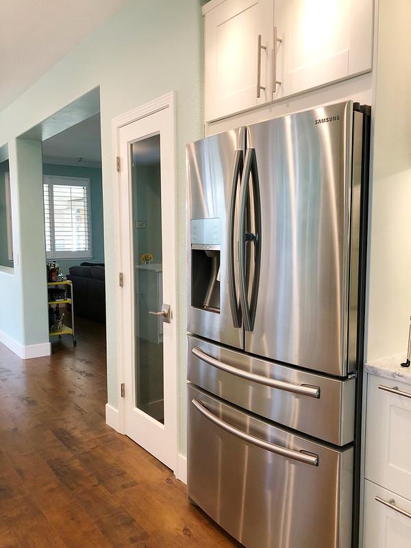 Pantry and fridge