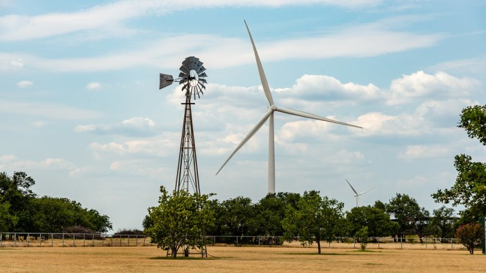 North Texas is lined with windmills