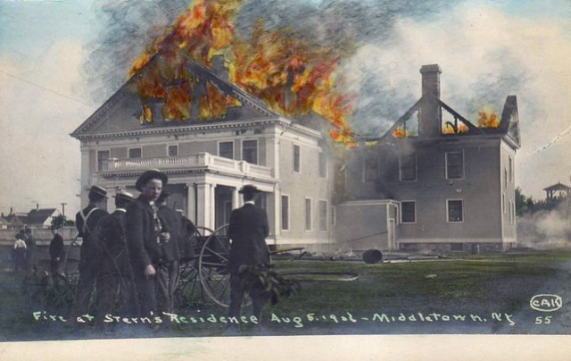 Fire at Stern's Residence - Middletown, New York