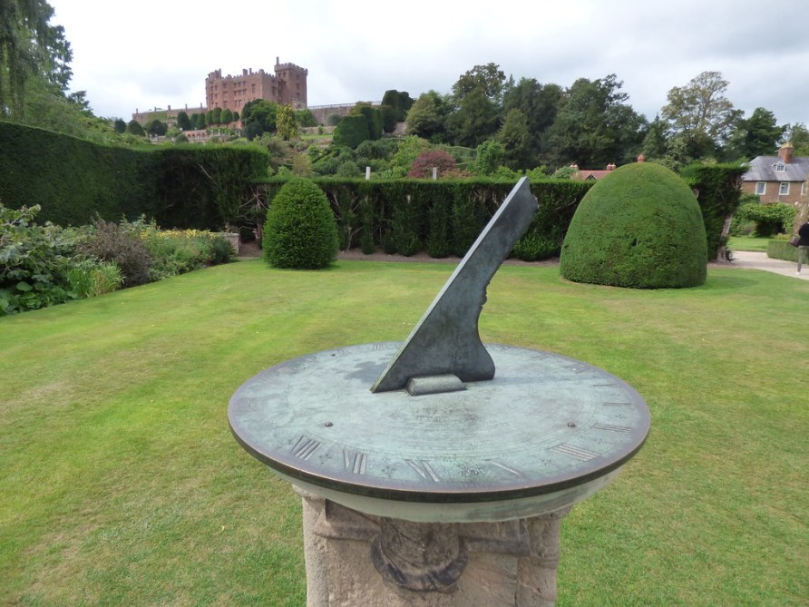 Powis Castle - Fountain Garden - sundial