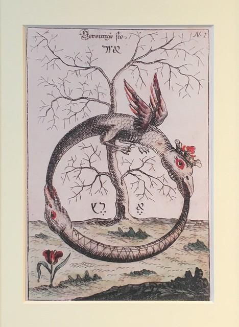 Een dubbele Ouroboros, een eeuwenoud symbool voor de eeuwige wederkeer / @ Ambassade van de Vrije Geest