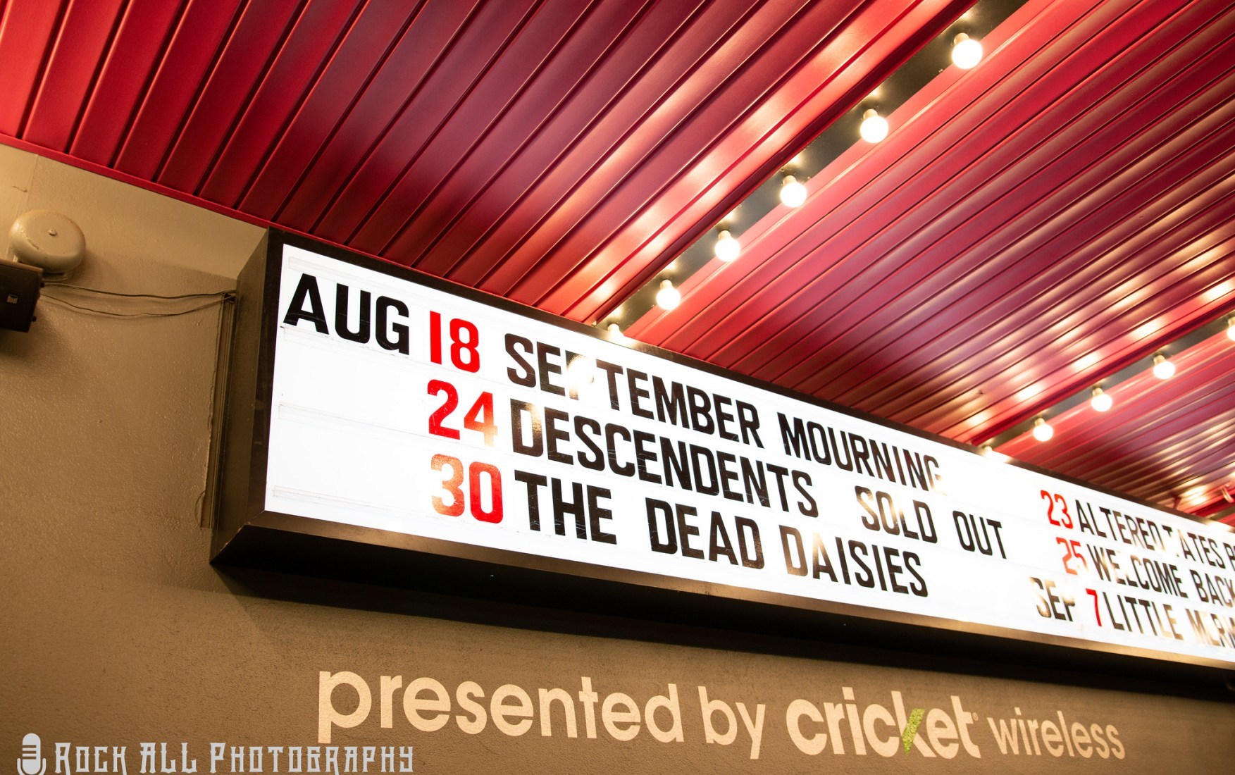 September Mourning - 8-18-18 Cincinnati, Ohio - Bogarts