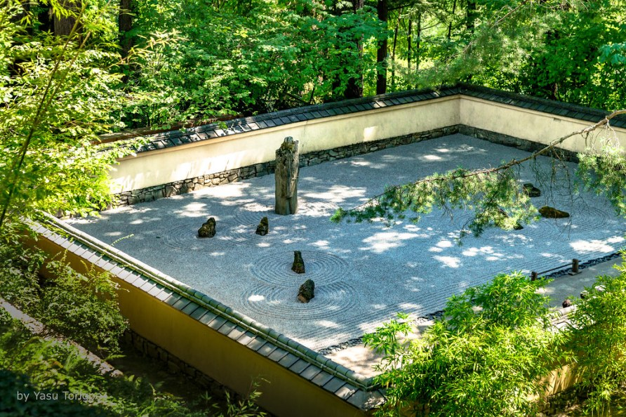 Zen Garden in the Portland Japanese Garden, Portland OR USA-24a