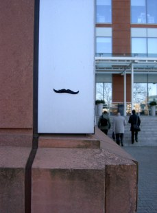 Moustache on wall