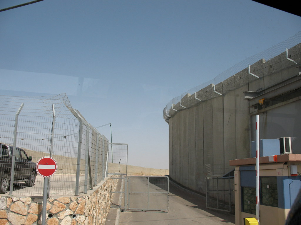 Bethlehem Security Wall And Checkpoint Israeli Side 1377