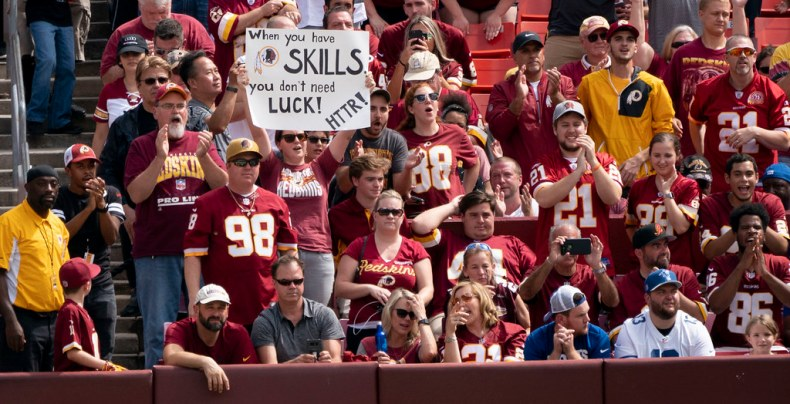 Image result for washington redskins fans