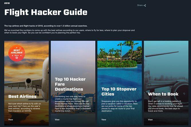 Kayak's 2018 Flight Hacker Guide