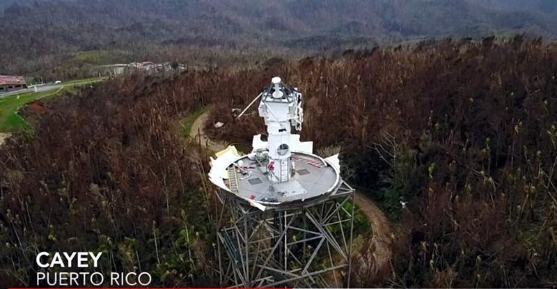 Fig. 5.b. Radar NWS en Cayey luego de Maria