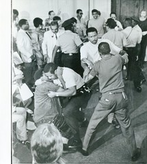 Clash with police in council chambers: 1969