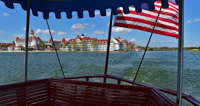 Old Glory waving at Grand Floridian