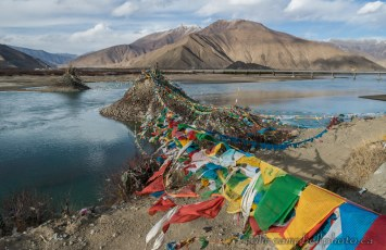 Prayer Flags at a Cremation Site