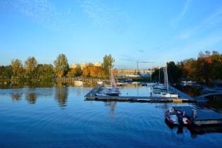Ukiel Lake  , boat parking     ( Poland  2018' )