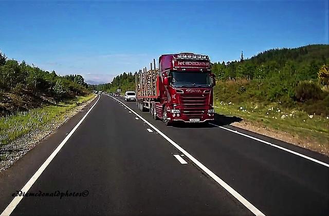 A9 Perth Inverness on dashcam