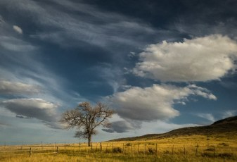Late Afternoon Clouds near Chimney Rock