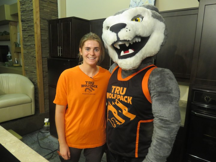 Maddy Malcolm and Wolfie (Sept 2018) | TRU WolfPack Athletics | Flickr