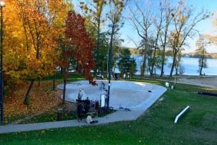 Skate Park located near the  Ukiel lake  , City of Olsztyn (Poland 2018)