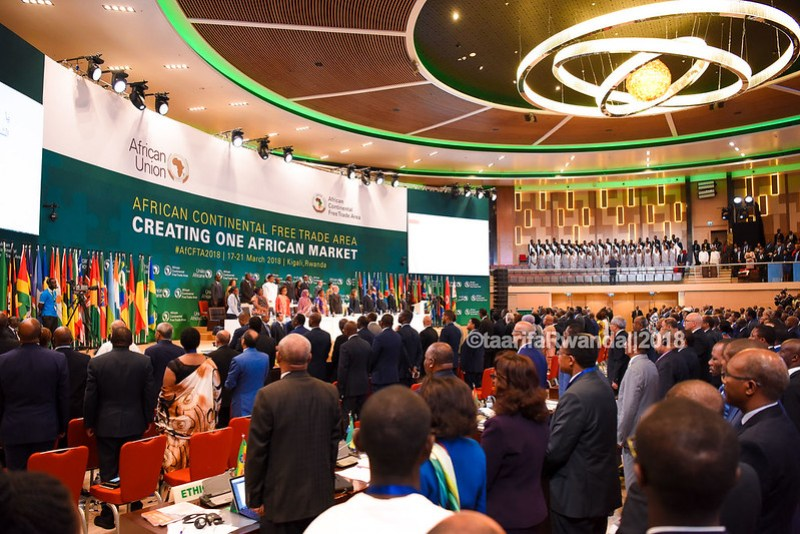 D African Heads of State sign the African Free Trade Area (15)