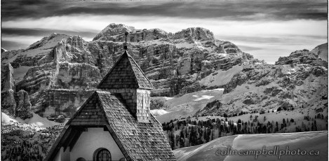 Chapel in the Dolomites