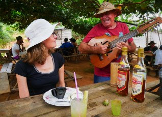 Being Entertained at a Coffee Plantation