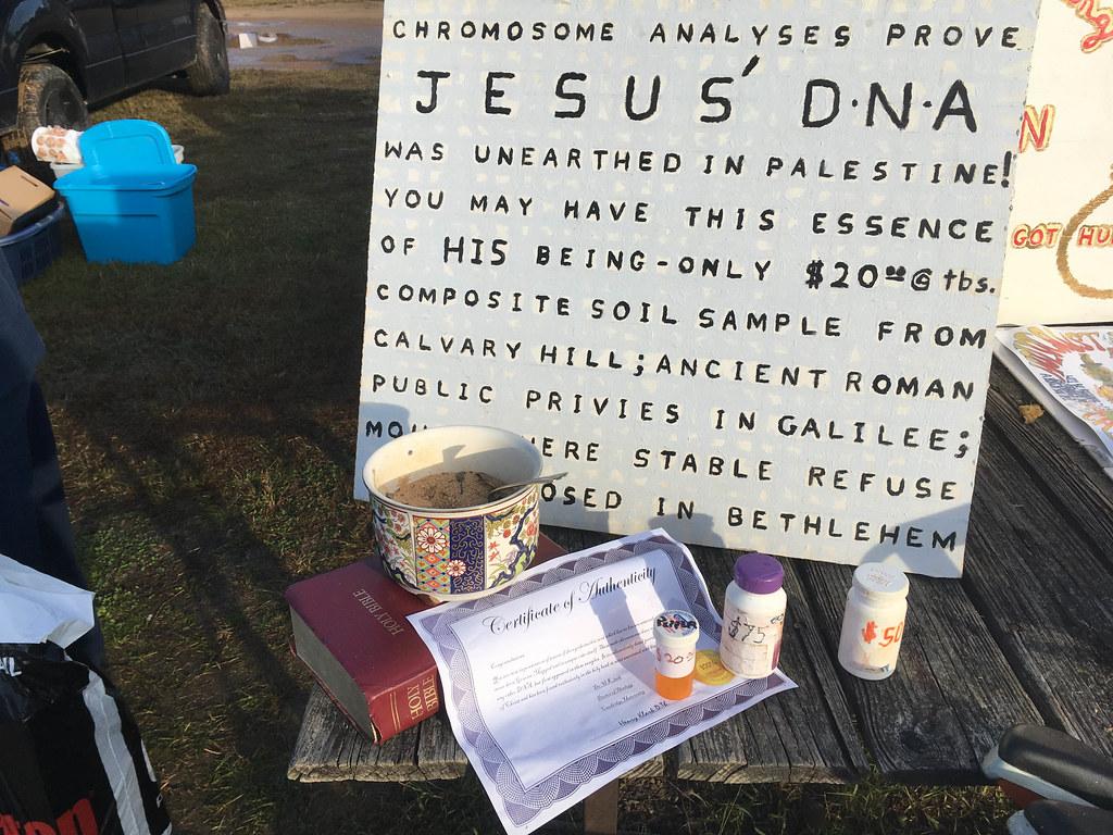 Jesus' DNA at Pickens Flea Market-001