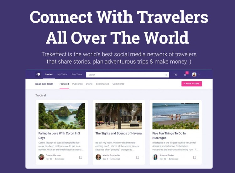 Trekeffect #travel Social Network